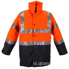 EN20471 jaket hujan waterproof reflective safety jacket
